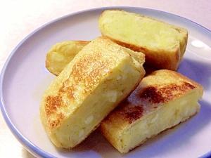 サクッと焼いてコロッケ風、油揚げのチーズポテト詰め