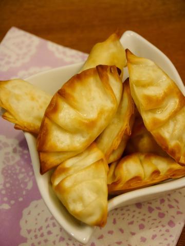 ツナマヨとゆで卵のおつまみ餃子★トースターで簡単