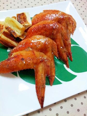 カリッカリ手羽先の✿にんにく醤油オーブン焼き❤