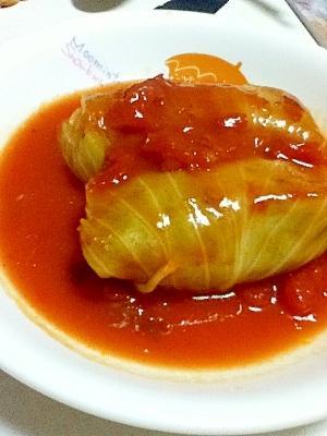 トマト風味のロールキャベツ