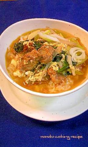 ユッケジャンクッパ♡牛肉の辛口スープかけごはん♡