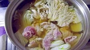 鴨鍋☆〆は濃厚雑炊+蕎麦