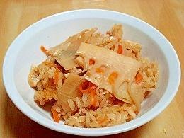 めんつゆで簡単竹の子ご飯