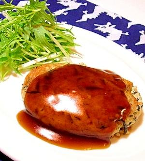 ヘルシーひじき入り豆腐ハンバーグ(照り焼きソース)