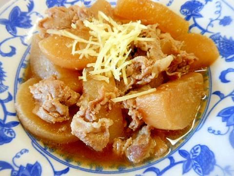 圧力鍋でご飯にぴったり~大根と豚小間肉の煮物