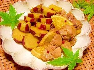 減塩☆鶏肉とサツマイモのオレンジ旨煮