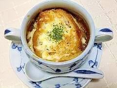 レンジで時短!絶品オニオングラタンスープ