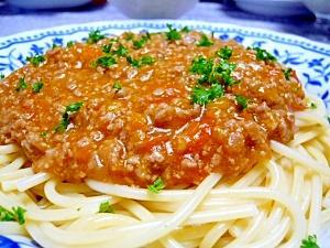 自家製トマトでミートソース☆