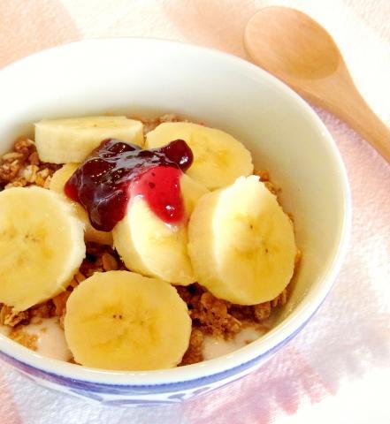 朝食✿バナナシリアルヨーグルトボウル