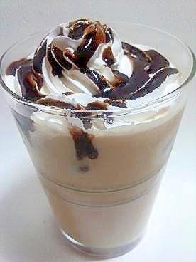 豆乳ホイップとチョコソースで豪華♪iceカフェラテ