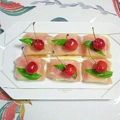 クラッカーとクリームチーズのカナッペ~♥