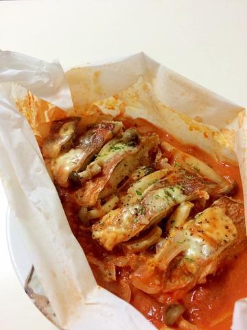 ◎鱈の重ね蒸しトマトソース
