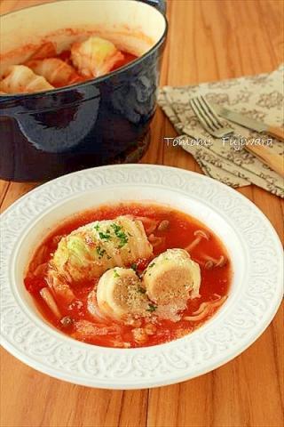 ジュワ旨~♪簡単!ロール白菜のトマト煮込み