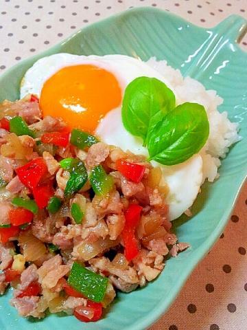タイ料理♪ガパオライス☆鶏肉とバジル炒めご飯☆