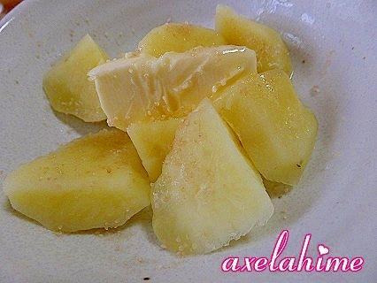 アップルシナモンシュガーで おやつじゃがバター